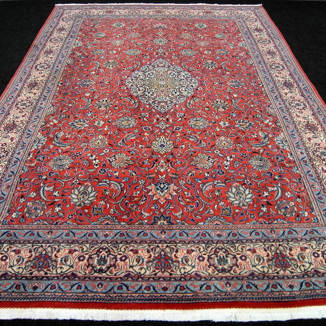 Orient Teppich Rot 354 x 248 cm Beige Beige Beige Perserteppich Medaillon Floral Carpet Rug 36ebb0