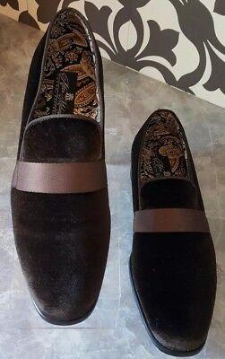 Mens AFTER MIDNIGHT Formal Stage Prom Award Tux shoes Slip on 6660 Black Velvet