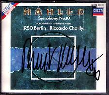 Riccardo CHAILLY Signiert MAHLER Symphony No.10 SCHOENBERG Verklärte Nacht 2CD