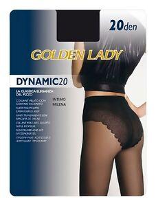 10 PAIA COLLANT GOLDEN LADY REPOSE 20 DENARI TAGLIA 3 COLORE NERO