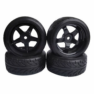 6mm Offset Rc 1 10 On Road Drift Car Hard Plastic Tires Wheels Rim
