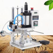 New Air Operated Hot Foil Stamping Machine Pvc Logo Press Hot Stamper 80100mm