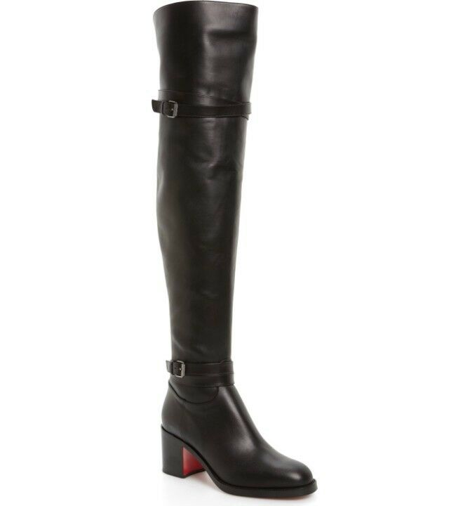 Christian Louboutin Karialta 70mm Over the Knee Boots Sz 37  1695