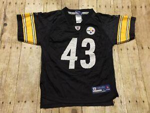 8139d138 Pittsburgh Steelers Jersey Reebok Troy Polamalu Kids Large 7 NFL ...