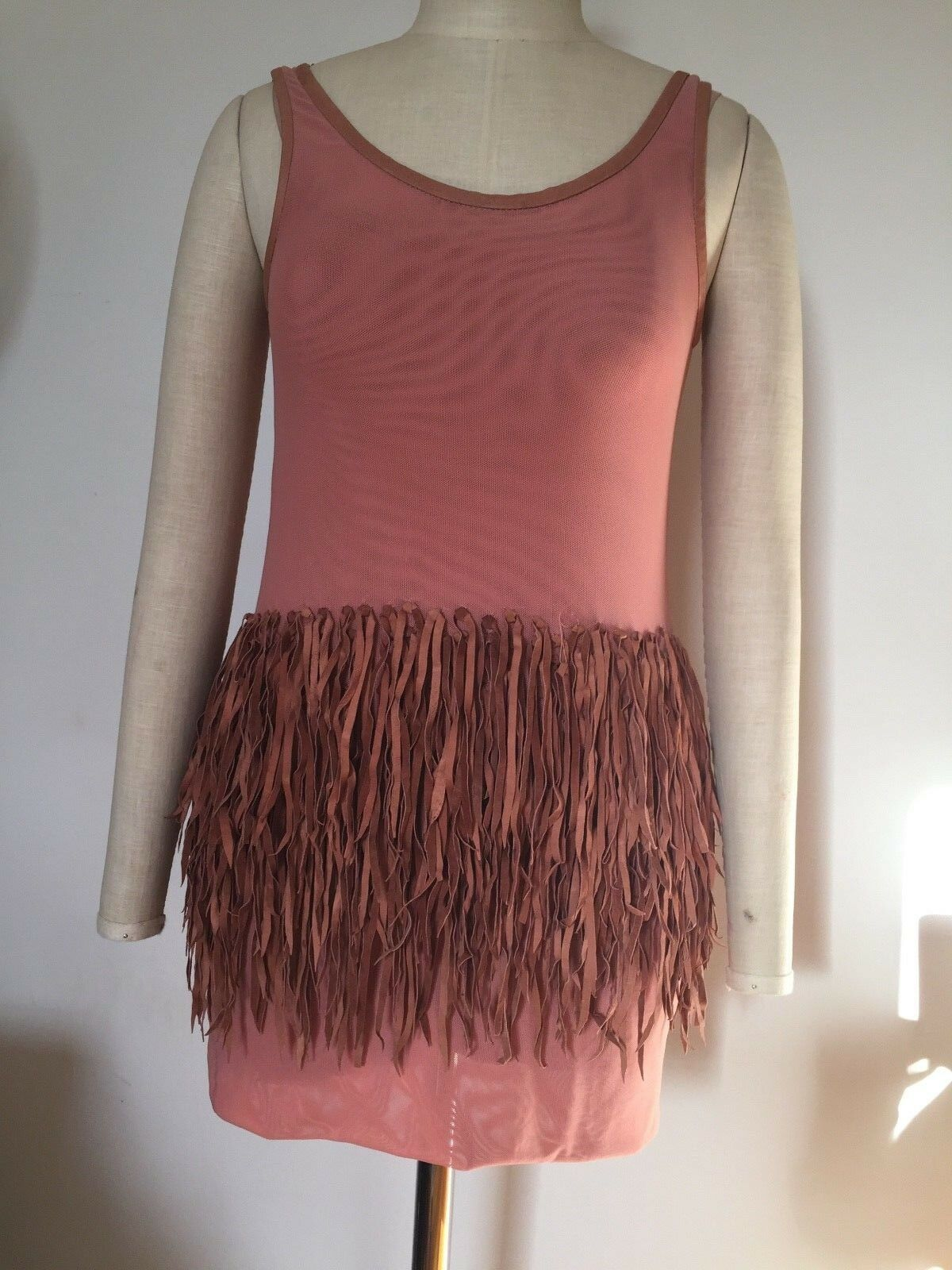 BNWOT sass and bide TASSELLED BANDS Dress  Long Top E36 AU8 10  Washable Leather