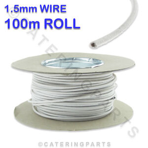 100m-ROLL-REEL-OF-1-5mm-WHITE-SIAF-HEAT-RESISTANT-HIGH-TEMPERATURE-WIRE-CABLE