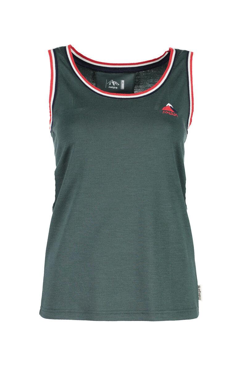 Maloja multi sport shirt shirt morderlo. verde elastici alla prossoezione dai raggi UV Tinta
