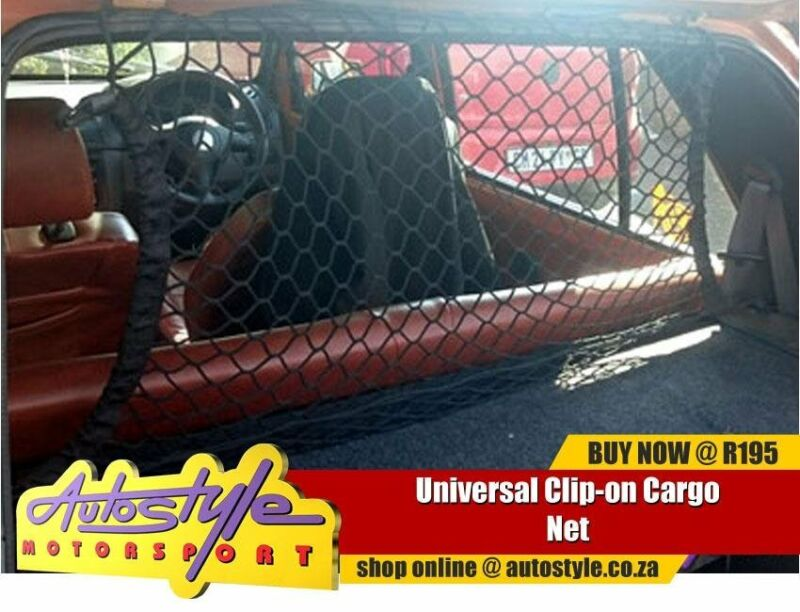 Universal Clip-on Cargo Net  Durable Elastic width  60cm length 90cm safety and storage
