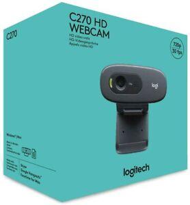 Logitech-C270-Webcam-720p-HD-Video-Camera-amp-Microphone-For-PC-Mac-Laptop-USB