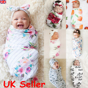Hot Newborn Baby Girl Boy Swaddle Wrap Blanket Sleeping Bag Headband