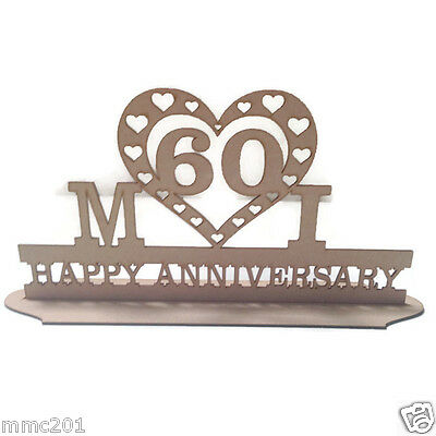 MDF Wooden Anniversary / Name Stand (custom made)