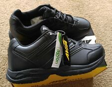 New Mens 8.5W Avia Black Work Shoes Sneakers Oil Slip Resistant Cantilever Sole