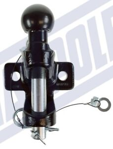 Black-Ball-amp-Pin-Towing-Coupling-034-E-034-approved-3-5-ton-Tow-Ball-Tow-Hitch-Tow-Jaw
