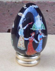 FRANKLIN-MINT-Treasury-of-Eggs-Russian-Egg