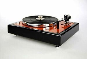 Restaurierter-Thorens-TD166-spezial-Plattenspieler-orange-metallic-und-schwarz