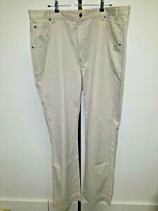 Eddie Bauer Para Hombre 42x36 Pantalones Frente Plano Algodon Caqui Ebay