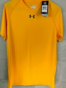 Size L Brand New Mens Yellow /& Gray Under Armour Heat Gear Loose Fit Shirt