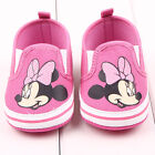 Baby Girl Minnie Mouse Hot Pink & White Canvas Summer Pre Walker Shoes