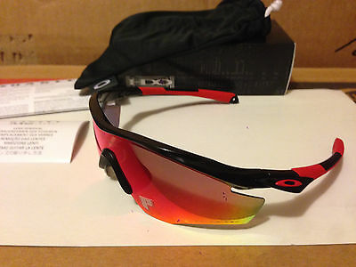 New Oakley M2 Frame Sunglasses Polished Black OO Red Iridium Polarized OO9212-06