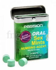 Desensitizing Oral Sex Mints with Numbing Agent Deep Throat Stimulant Gag Reflex