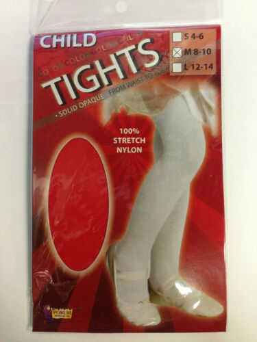 Economy Forum Girl/'s Size 8-10 Medium Red Full Footed Tights