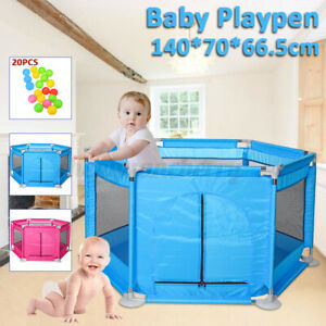 Baby-Children-Kid-Playpen-6-Sides-Protective-Fence-Indoor-Safety-Crawling-Fence