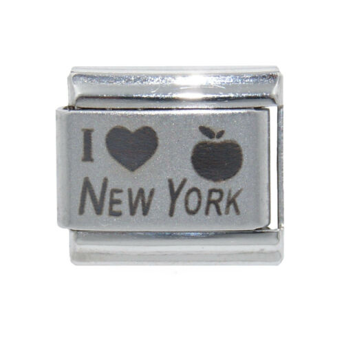 I love New York laser Italian Charm fits 9mm classic Italian Charm bracelets