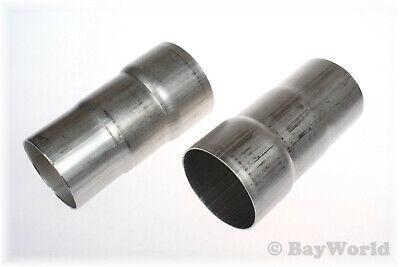 Auspuff Reduzierungsstück Adapter Rohrverbinder 60-65-67mm V2A Edelstahl 2 St