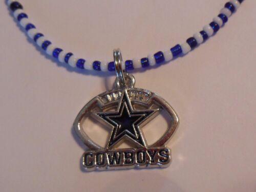 """22/"""" Dallas Cowboys  Bead Necklace"""