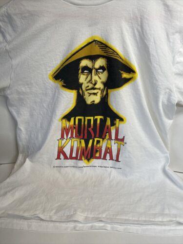 Mortal Kombat Vintage T Shirt Video Game  RARE XL.