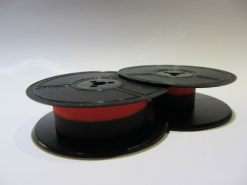 2 x 'ERIKA 105/' *BLACK//RED* TOP QUALITY *10 METRE* TYPEWRITER RIBBON*AIR SEALED*