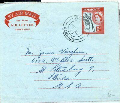Jamaica Aerogramm 1957 In Die Usa Sonstige Briefmarken Gelernt 426567