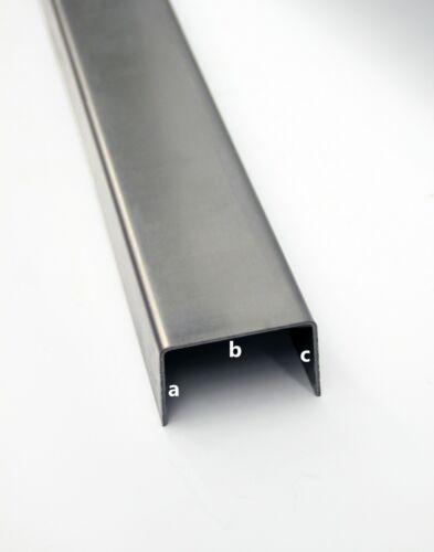 1mm U-Profil gekantet aus Stahl AUF WUNSCHMAß Winkel Abdeckprofil Schiene Leiste
