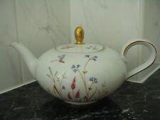 Eschenbach Bavaria Vintage China Large Teapot Floral Dragonfly design (A298)