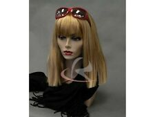 Female Mannequin Head Bust Jewelry Wig Hat Earrings Necklace Display MD-PH17