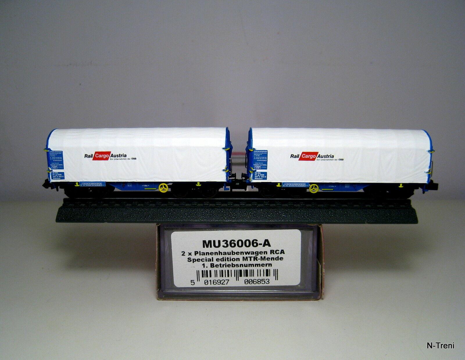 Modellbahn Union N MU36006-A - Set di 2 carri Shimmns Rail Cargo Austria OBB