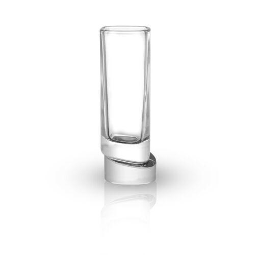 JoyJolt Square Aqua Vitae 1.5 oz Crystal Shot Glasses Set of 4 Off Base Glasses