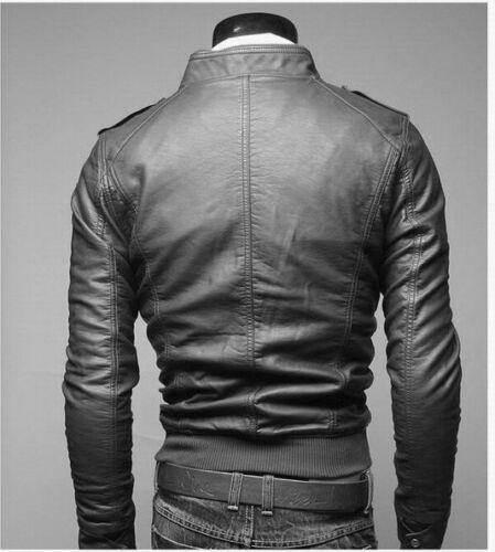 DE Herren Lederjacke Biker Men/'s Leather Jacket Coat Homme Veste En cuir N3pp1