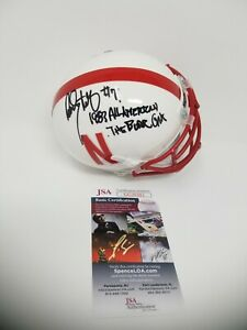 Dean Steinkuhler Signed Autographed 2 Inscriptions Nebraska Huskers Mini Helmet