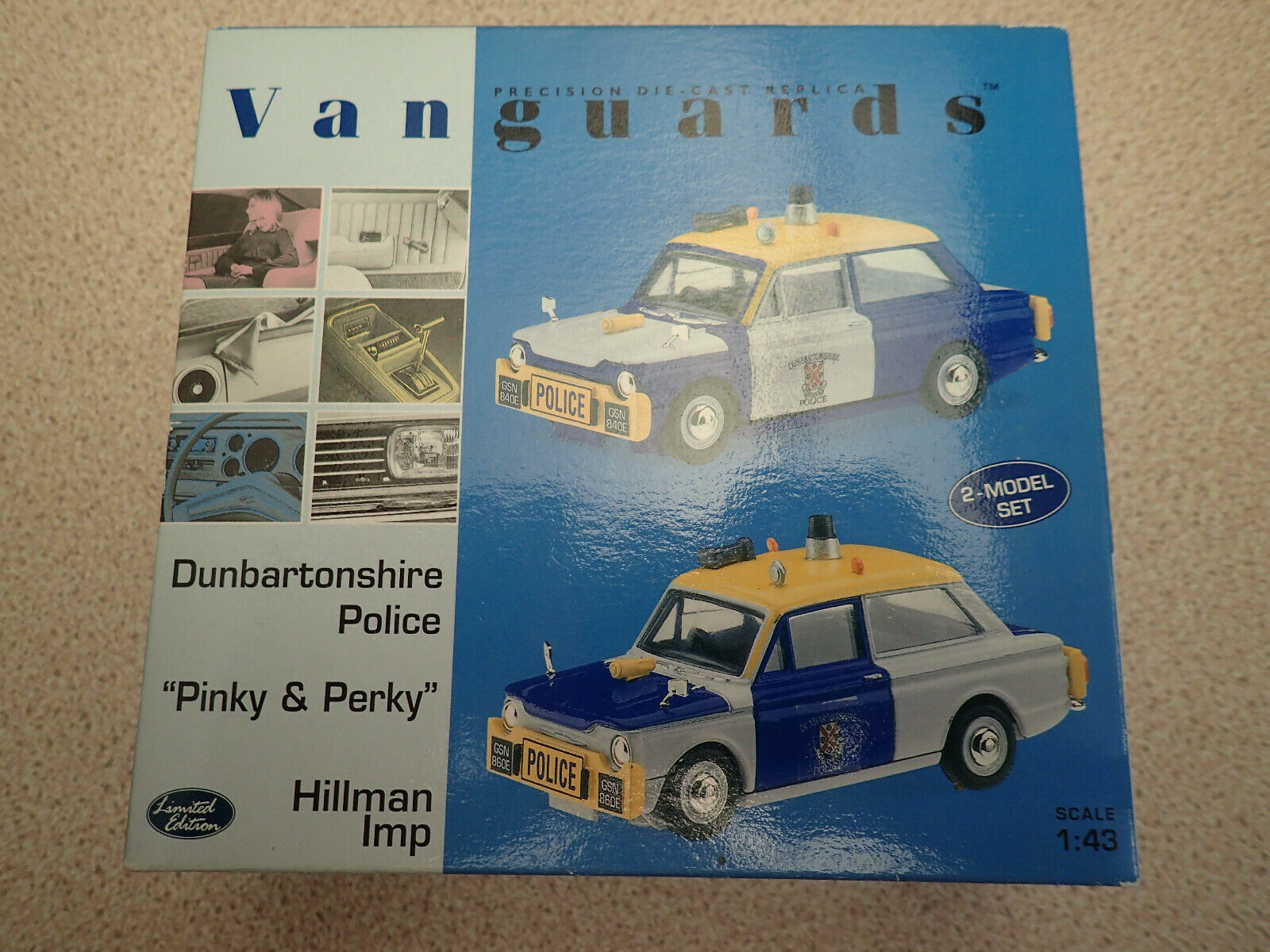 Ltd Edn Vanguards 1 43 PP1002 Dumbartonshire Police Hillman Imp Set Untouched