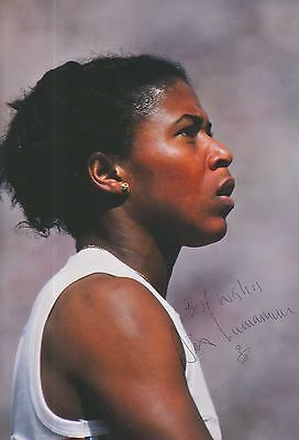 Sports Memorabilia Other Olympic Memorabilia Frugal Sonia Lannaman Hand Signed Olympics 12x8 Photo Cool In Summer And Warm In Winter