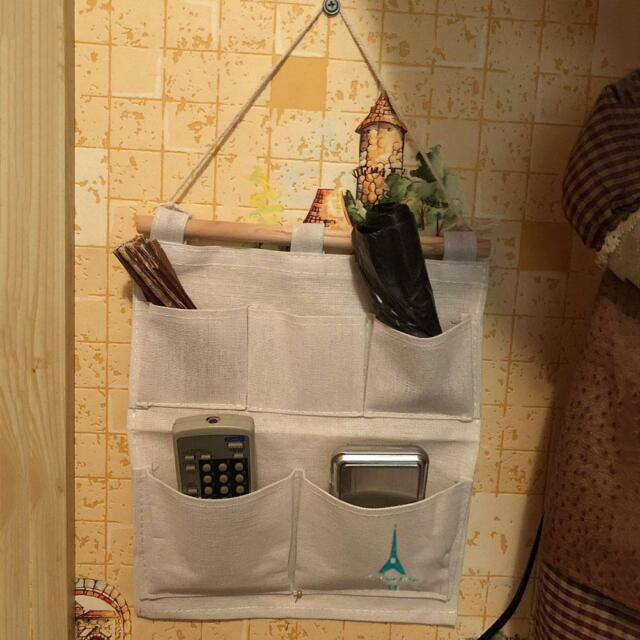 5 Pockets Wall Door Closet Home Hanging Storage Bag Organizer Pouch Home Useful