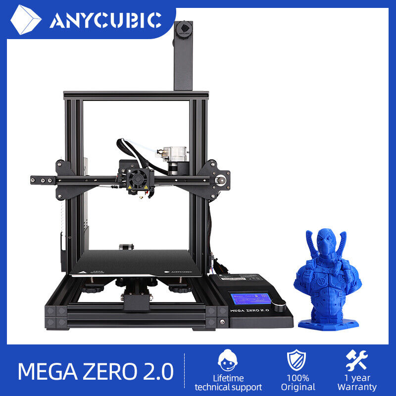 ANYCUBIC MEGA ZERO 2.0 3D Printer Large Printing Size with Magnetic Printing Bed