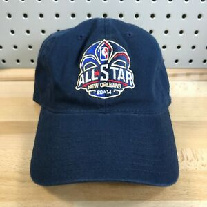 NBA-ALL-STAR-GAME-2014-Basketball-New-Orleans-Navy-Blue-Hat-Strap-Back-EUC-Cap