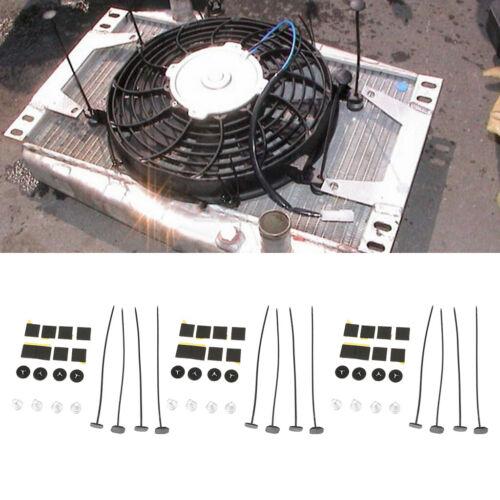 3 Set Plastic Universal Radiator Mount Mounting Kit Electric Fan Tie Straps