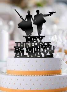 Details About Star Wars Couple May The Force Be With You Always Wedding Cake Topper