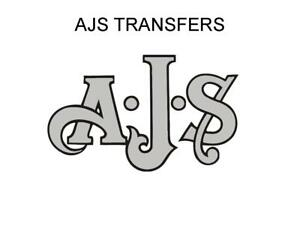 AJS Tank and Rear Mudguard Transfers Decals Motorcycle Silver/Black