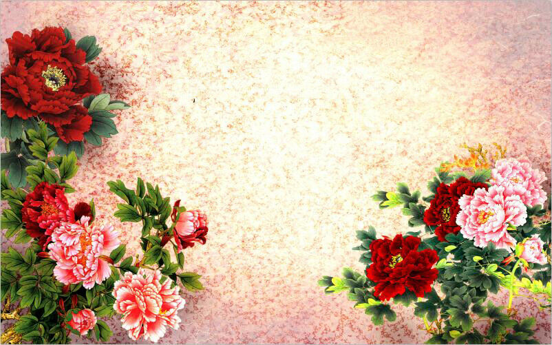 3D Rot PfingstRosa PfingstRosa PfingstRosa Blaumen 9173 Tapete Wandgemälde Tapeten Bild Familie DE Kyra | Verschiedene Stile  6cb4ba