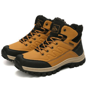 Para-Hombre-Botas-De-Nieve-Senderismo-Zapatos-informales-Zapatos-De-Invierno-Calido-Impermeable
