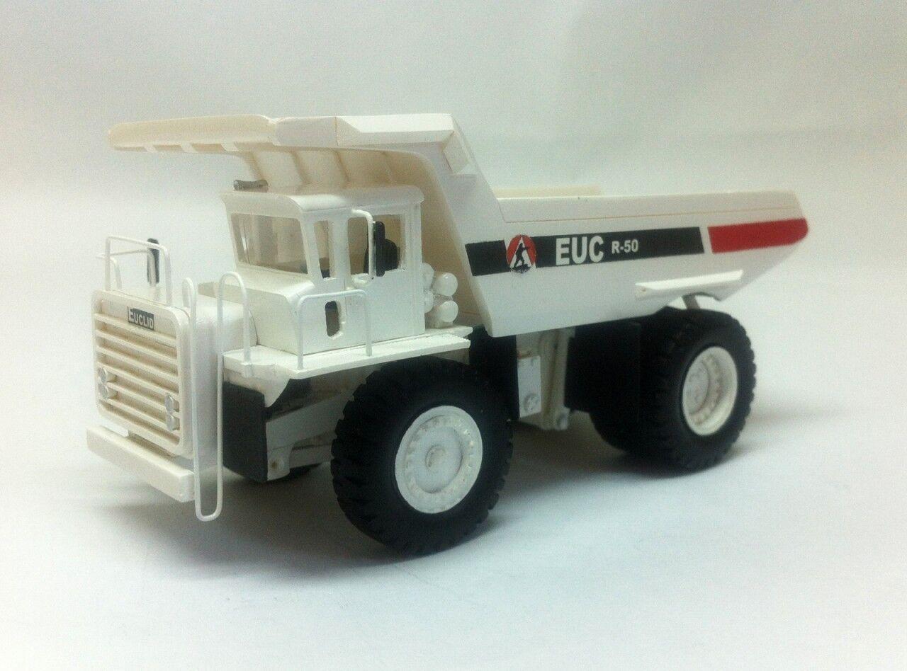 Ho 1/87 Euclid R-50 Rock Camión-Ready Made Modelo De Resina Color Blanco